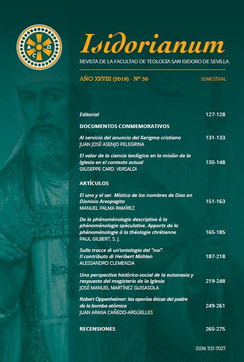 Isidorianum, Revista de la Facultad de Teología San Isidoro de Sevilla